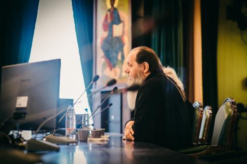 Онлайн-трансляция выступления отца Владимира Головина в Московской духовной академии