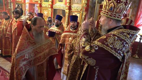 Награждение протоиерея Владимира Головина правом ношения креста с украшением